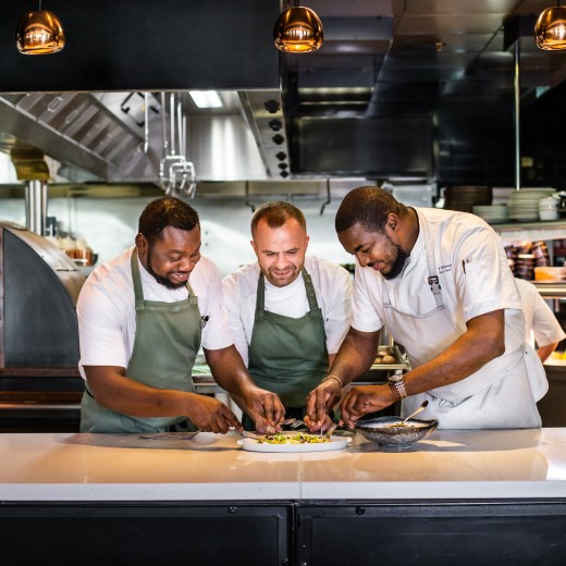 Many hands make light work in Sea Containers Restaurant