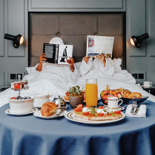 Those three words you love to hear: breakfast in bed