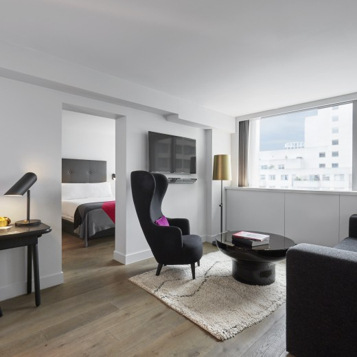 Our Loft Suites offer a generous en-suite bedroom and separate living area, the ideal base to explore London and entertain guests.