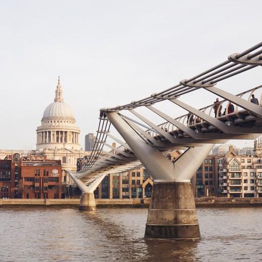 Millennium Bridge and St Paul's Cathedral