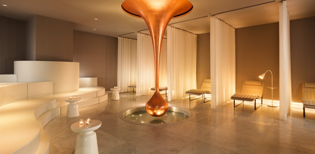 Our copper drop in the Relaxation Room is a nod to the roman bathing culture, and definitely the centre of attention