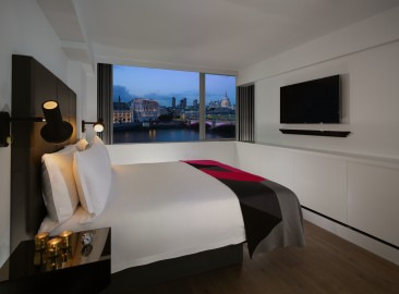 Our Riverview Loft Suites offer a spacious en-suite bedroom and separate living area with an incredible view over London, the ideal base to explore the city and entertain guests
