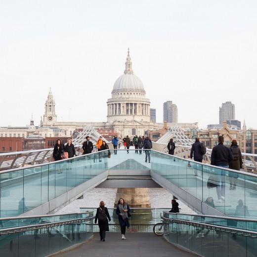 St Paul's Cathedral over the Millennium Bridge