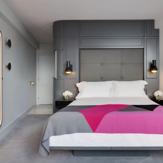 We set the bar high with our Standard rooms, featuring sumptuous beds and custom designed furniture by designer Tom Dixon